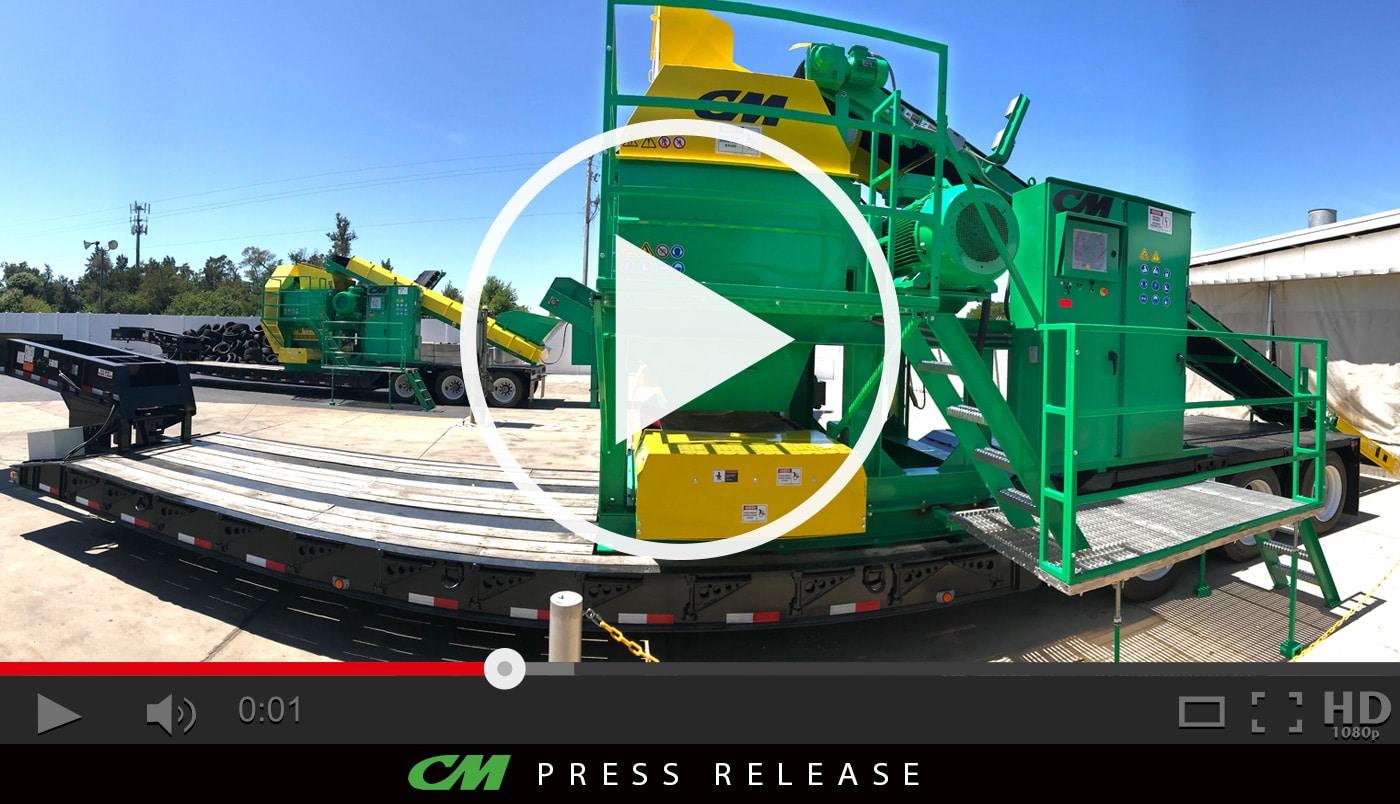 CM Signature Mobile Tire Shredding Systems